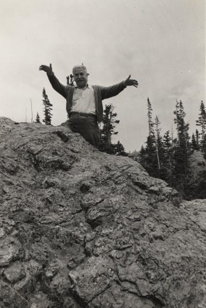 Artur Schnabel in the Engadin, Switzerland, 1930's