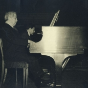Artur and Karl Ulrich Schnabel in rehearsal, New York 1947