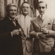 Artur Schnabel with Carl Flesch and Vladimir Horowitz, 1930\'s