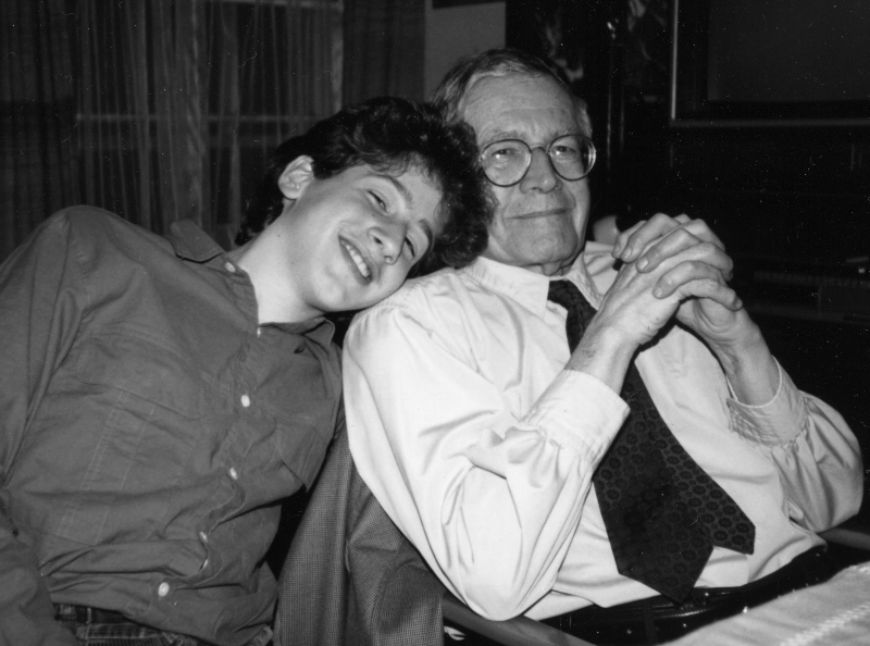 Claude Mottier with his grandfather Karl Ulrich Schnabel, 1986