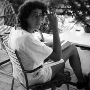 Claude Mottier on vacation with friends in Ibiza, Spain, 1986