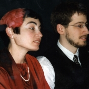 Claude Mottier and Erika Zoe Schutzman at their wedding in Rhinebeck NY, December 13, 1999