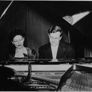 Helen and K.U. Schnabel at piano, New York, early 1940\'s