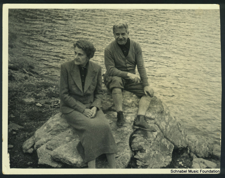 Therese and Artur Schnabel in Colorado, 1940