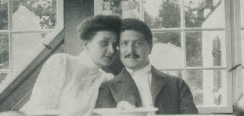 Therese and Artur Schnabel, 1905