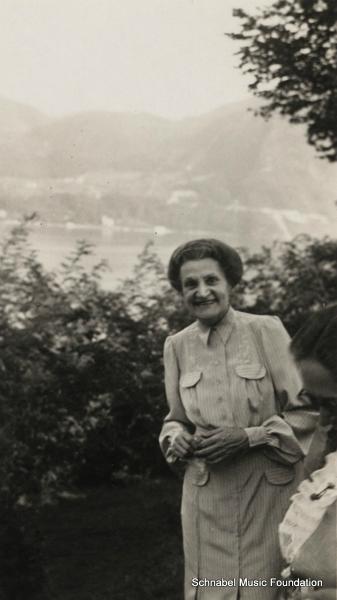 Therese Schnabel at Lake Como, 1930\'s
