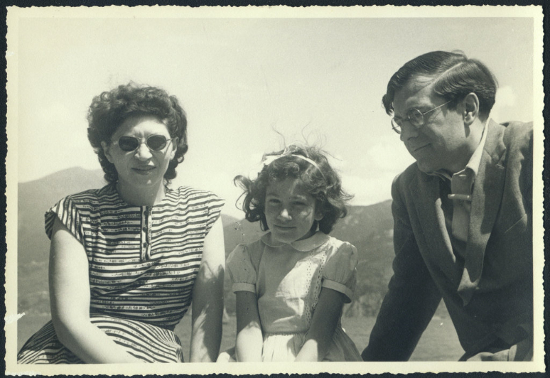Helen, Ann, and Karl Ulrich Schnabel at Lake Como. 1948