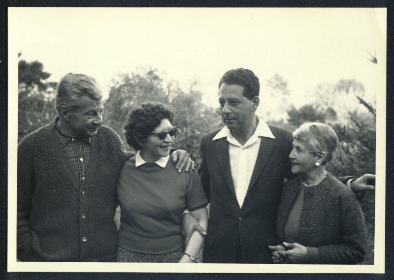 From l. to r.: Stefan and Helen Schnabel, Jean-Christophe Herold, Elizabeth M. Rostra. 1960\'s