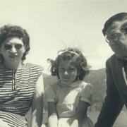 Helen, Ann, and Karl Ulrich Schnabel at Lake Como. 1948