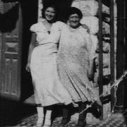 Helen Fogel with her grandmother in Palestine, summer 1935