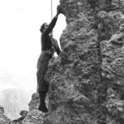Helen Fogel climbing in the Dolomites,1938