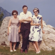 Helen, Karl Ulrich and Ann Schnabel, above Lake Como, Summer 1964