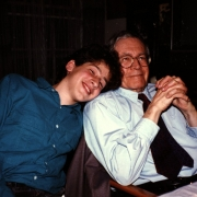 Karl Ulrich Schnabel with grandson Claude Mottier. 1986