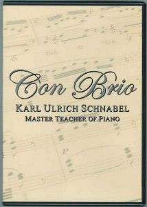 Con Brio KARL ULRICH SCHNABEL: MASTER TEACHER OF PIANO