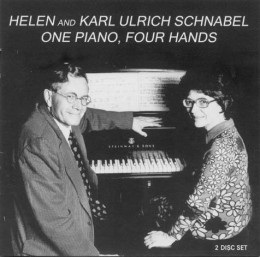 One Piano, Four Hands Karl Ulrich and Helen Schnabel, piano. ownHall Records THCD-19