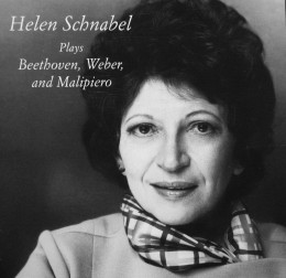 Helen Schnabel Plays Beethoven, Weber, and Malipiero Helen Schnabel, piano Charles F. Adler, conductor Vienna Orchestra. TownHall Records THCD-66