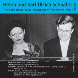 ONE PIANO, FOUR HANDS, THE 1950's RECORDINGS Vol. 1 Helen and Karl Ulrich Schnabel, Piano. TownHall Records THCD76