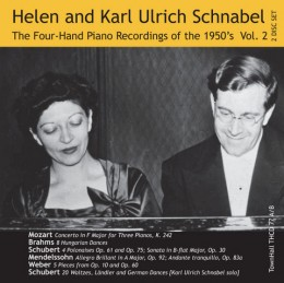 ONE PIANO, FOUR HANDS, THE 1950's RECORDINGS Vol. 2 Helen and Karl Ulrich Schnabel, piano. TownHall Records THCD77