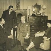 Tobe Deutschman, K. U. Schnabel, Artur Schnabel and Therese Schnabel, New York 1940's