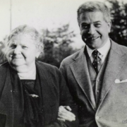 Artur Schnabel with his mother Ernestine. 1930's