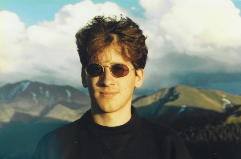 Claude Mottier above Aspen, 1993