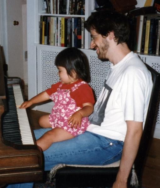 Claude Mottier with his cousin Jiana Schnabel. West Hartford, CT, 1999