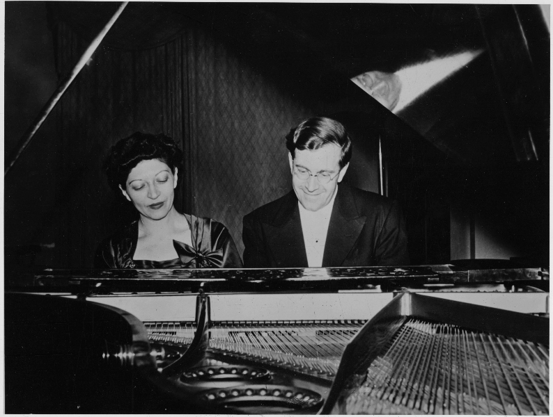 Helen and K.U. Schnabel at piano, New York, early 1940's