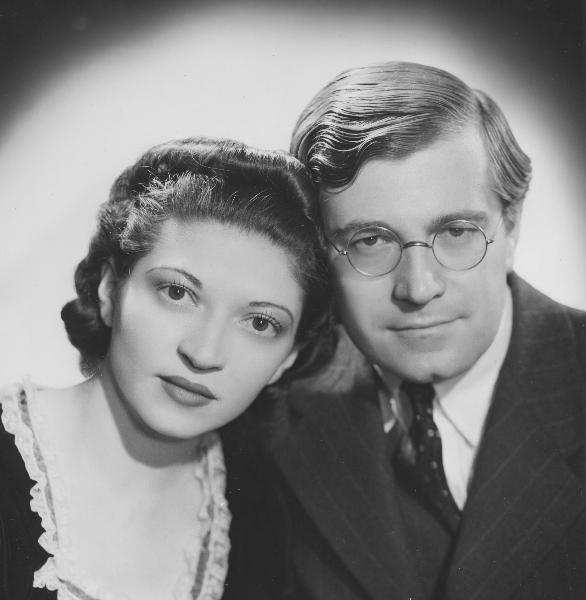 Helen and Karl U. Schnabel, publicity photo, 1939