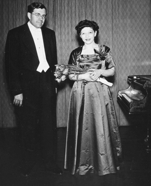 Helen and K.U. Schnabel after concert in Regensburg, Germany, 1951