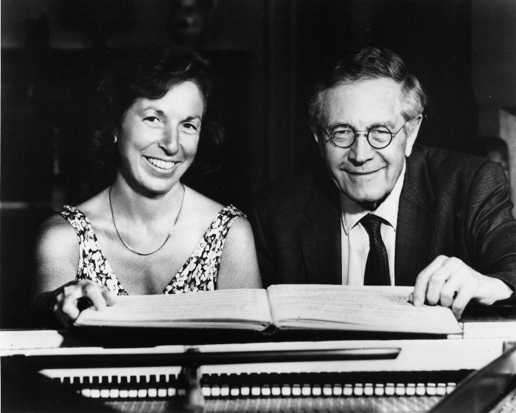 Joan Rowland and K.U. Schnabel in rehearsal, 1980's
