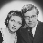 Helen and Karl U. Schnabel, publicity photo, 1939