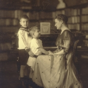 Therese Behr Schnabel with her two sons, Karl Ulrich and Stefan. Berlin 1914