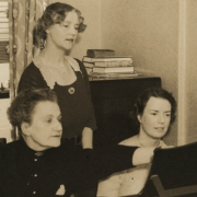 Therese Schnabel teaching, 1930's