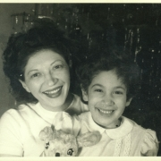Helen and Ann Schnabel, Brooklyn NY, Christmas 1947