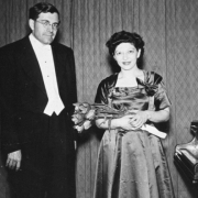 Helen and K.U. Schnabel after concert in Regensburg, Germany, April 1951
